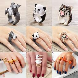 Trendy Animal Shape Adjustable Finger Open Ring Band Jewelry