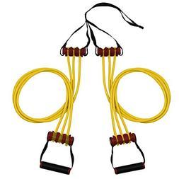 Lifeline Triple Trainer R7 Resistance Cables, 70 lb, Yellow
