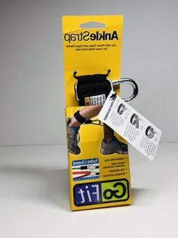 GoFit Adjustable Neoprene Ankle Strap - Black Extreme Tube/B