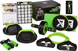 The Ultimate Fitness Set - 5 in 1 Ab Roller Wheel, Rotating