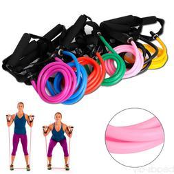 Unisex Elastic Resistance Bands Pilates Tube Pull Rope Sport