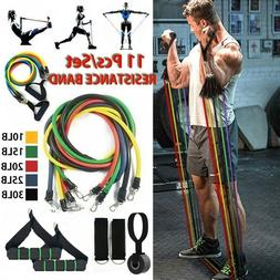 yoga exercise fitness rubber tube resistance band
