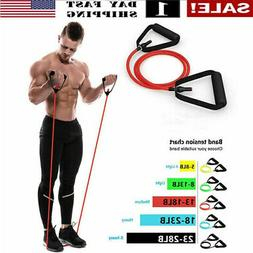 US! 5 Levels Resistance Bands Yoga Pull Rope Elastic Fitness