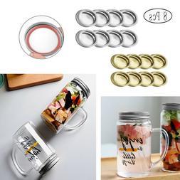 US_8Pcs_70mm Bottle Lids Caps Screw Bands for Mason Jars Can