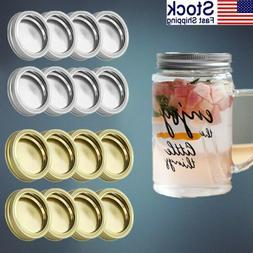 US 8Pcs 70mm Bottle Lids Caps Screw Bands for Mason Jars Rus
