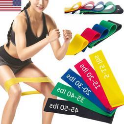 US Elastic Resistance Loop Bands Exercise Crossfit Yoga Fitn