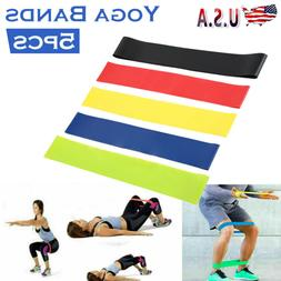 US Workout Resistance Bands Loop Set Fitness Yoga Booty Leg