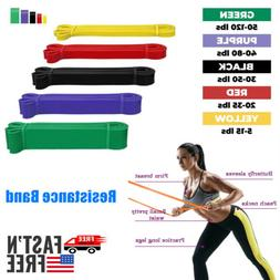 USPS Resistance Band Set Yoga Abs Exercise Fitness Tube Gym