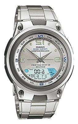 Casio Men's Analog/Digital Display Quartz Watch, Silver Stai