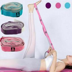 Women Physical Therapy and Yoga Loops Stretching Strap Exerc