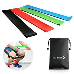 Workout Band, Lively Life Elastic Resistance Loops Band Set