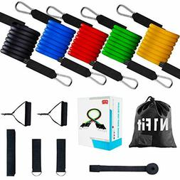 Workout Resistance Bands 11pcs Exercise with Door Anchor, An