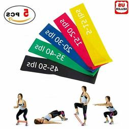 Resistance Bands Workout Loop Set 5 Legs Exercise CrossFit F