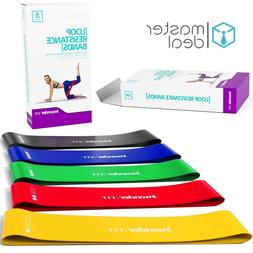 workout resistance bands loop set crossfit fitness
