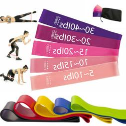 Workout Resistance Bands Loop Set Fitness Yoga Booty Leg Exe