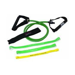 SPRI 05-58638  Green Xertube, 3 Xercise Bands w/door attach