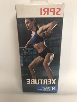 SPRI Xertube Blue Exercise Band with Door Attachment Heavy R