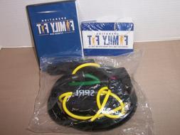 SPRI Xertube resistance bands exercise cords, green-yellow