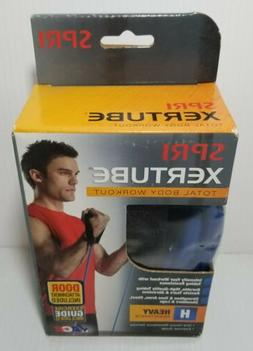 Spri Xertube Total Body Workout Heavy Resistance Tube with D