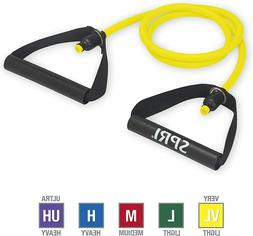 SPRI Xertube Resistance Bands Exercise Cords, Yellow, Very L