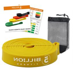 Yellow Latex Pull Up Assist Bands Streching Heavy Resistance