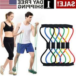 Yoga Elastic Cord 8-Shape Tube Resistance Band Fitness Muscl