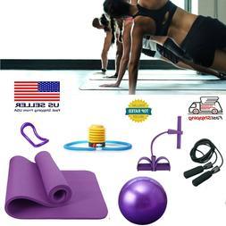 Yoga Fitness Kit Yoga Ring Mat Ball Skipping Rope Exercise F