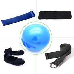 ELUTONG Yoga Kit 5 Pack Mini Yoga Pilates Ball Yoga Pilates