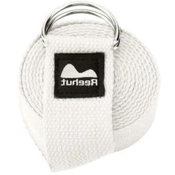 REEHUT Yoga Strap 8ft Durable Polyester Cotton Exercise Adju